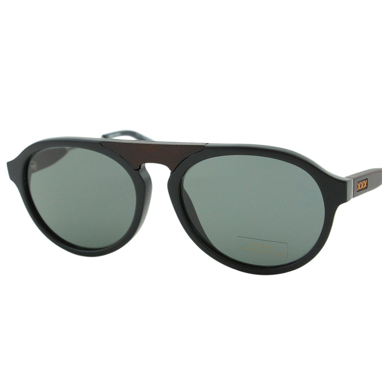ed3287f6a8 Ermenegildo Zegna Couture ZC-0027 Men Black Aviator Barberini Glass  Sunglasses  Ermenegildo Zegna  Amazon.co.uk  Clothing