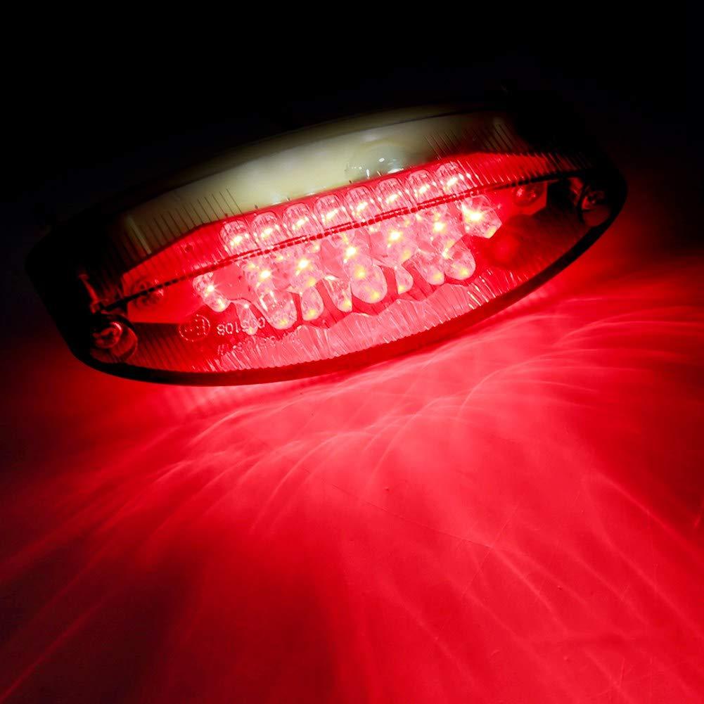 L/ámpara de motocicleta de 28 LEDs ATV Luz de alto brillo L/ámpara de humo Freno Placa de matr/ícula Luz de cola