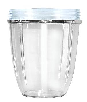 Nutribullet NBM-VE011RV - Vaso Corto, Transparente