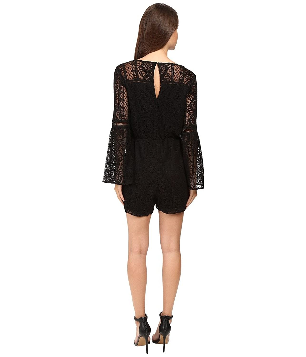 Adelyn Rae Womens Woven Lace Romper