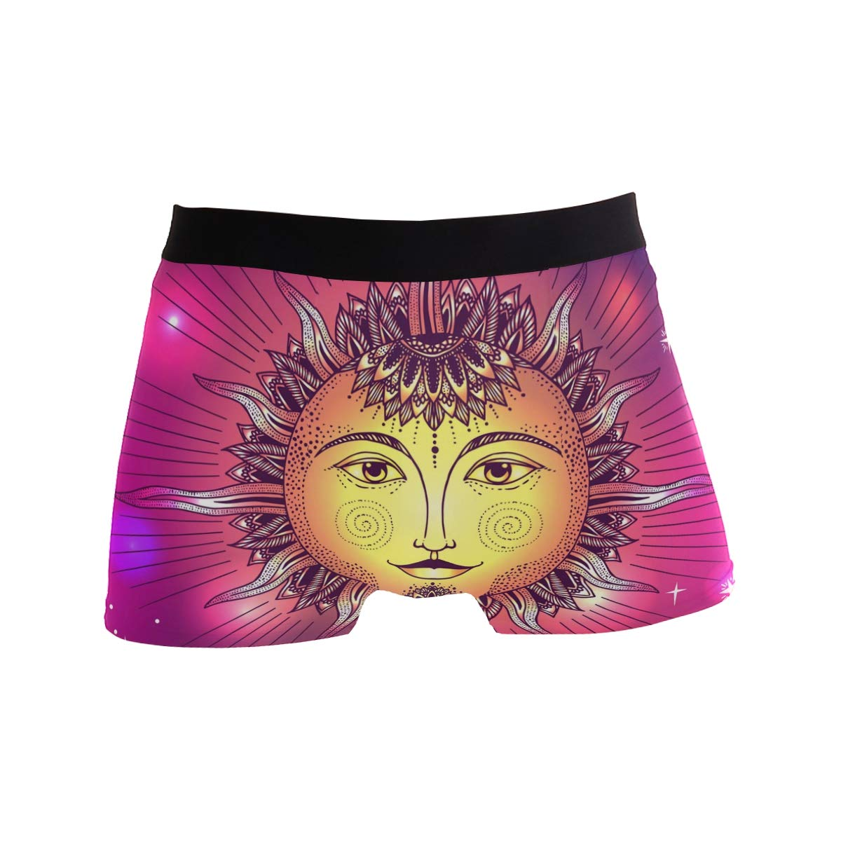 Galaxy Star Sun Face Short Underwear Soft Stretch Underpants for Men Boys S-XL BETTKEN Mens Boxer Briefs