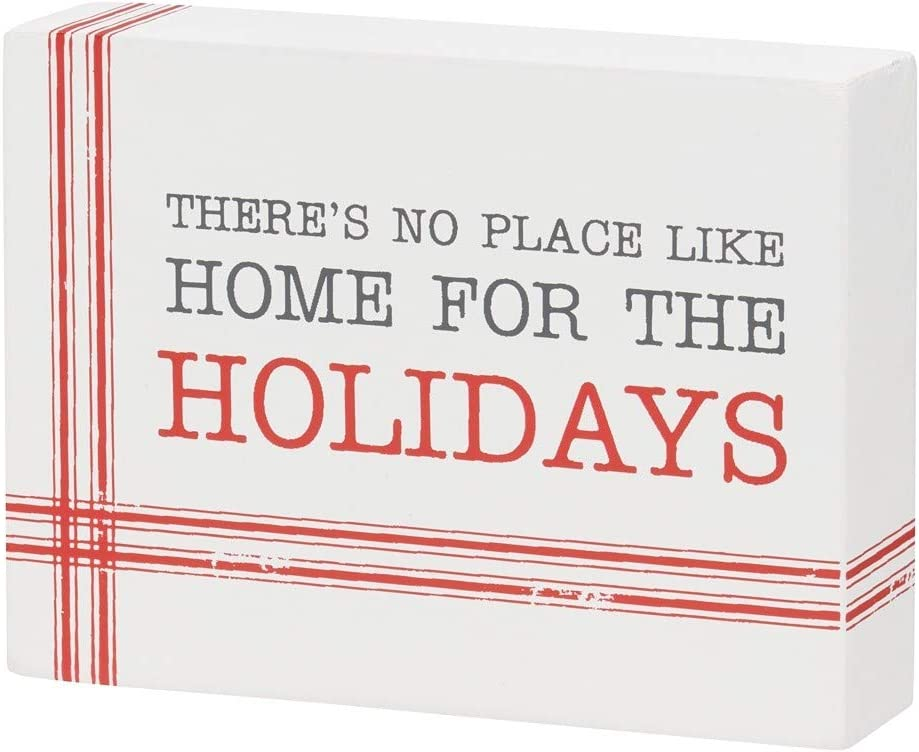 Collins Painting 'No Place Like Home for The Holidays' Block Sign