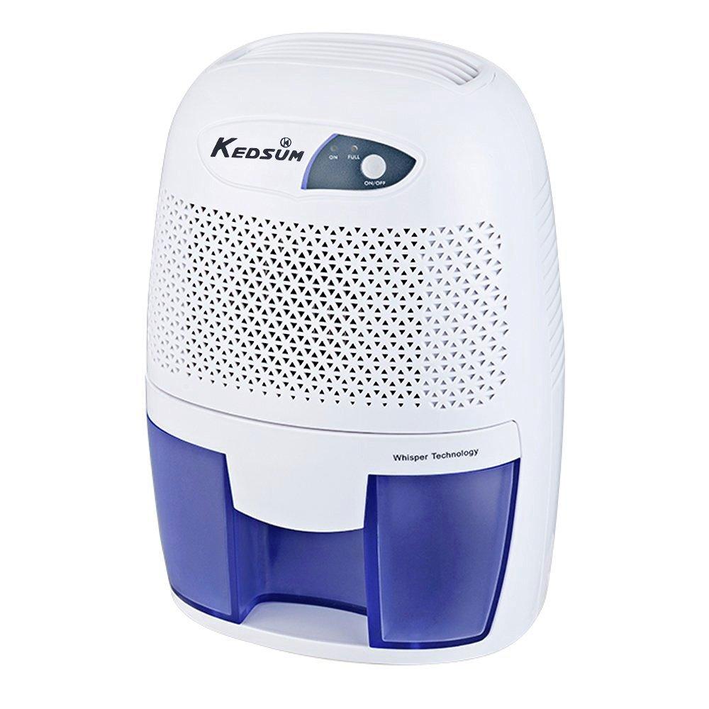 KEDSUM Electric Mini Dehumidifier 17.6 oz Capacity, 1200 Cubic Feet (150 sq ft) Bathroom, Small Laundry Room, Bedroom, Closet, Basement, Attic, RVs, Ultra Quiet Thermo-Electric Dehumidifiers by KEDSUM