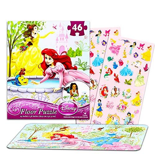 Disney Princess Giant Floor Puzzle for Kids (3 Foot Puzzle, 46 Pieces-- Bonus Disney Princess - Floor Puzzle Princess
