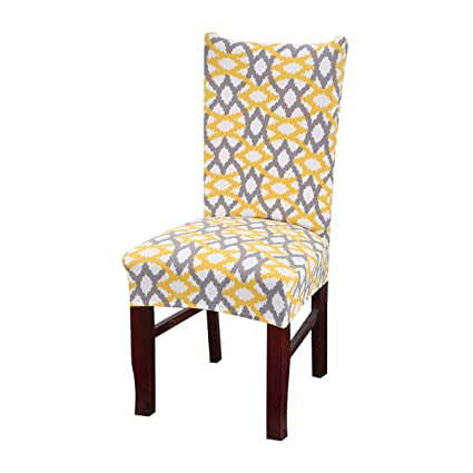 Amazoncom Vonty Geometric Pattern Stretchy Dining Chair Covers