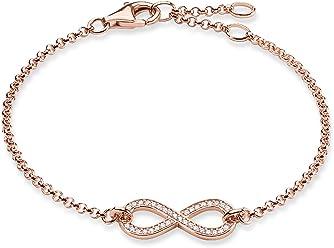 Thomas Sabo Women-Bracelet Glam & Soul 925 Sterling Silver Zirconia white Length from 16.5 to 19.5 cm A1330-051-14-L19,5v