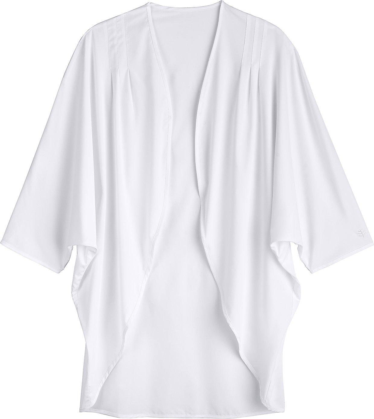 Coolibar UPF 50+ Women's Shawl Wrap - Sun Protective (Large- White)