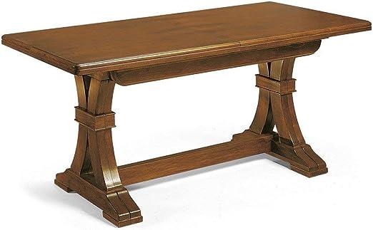Mesa de madera de nogal cuadrada extensible arte pobre 180/360 x ...