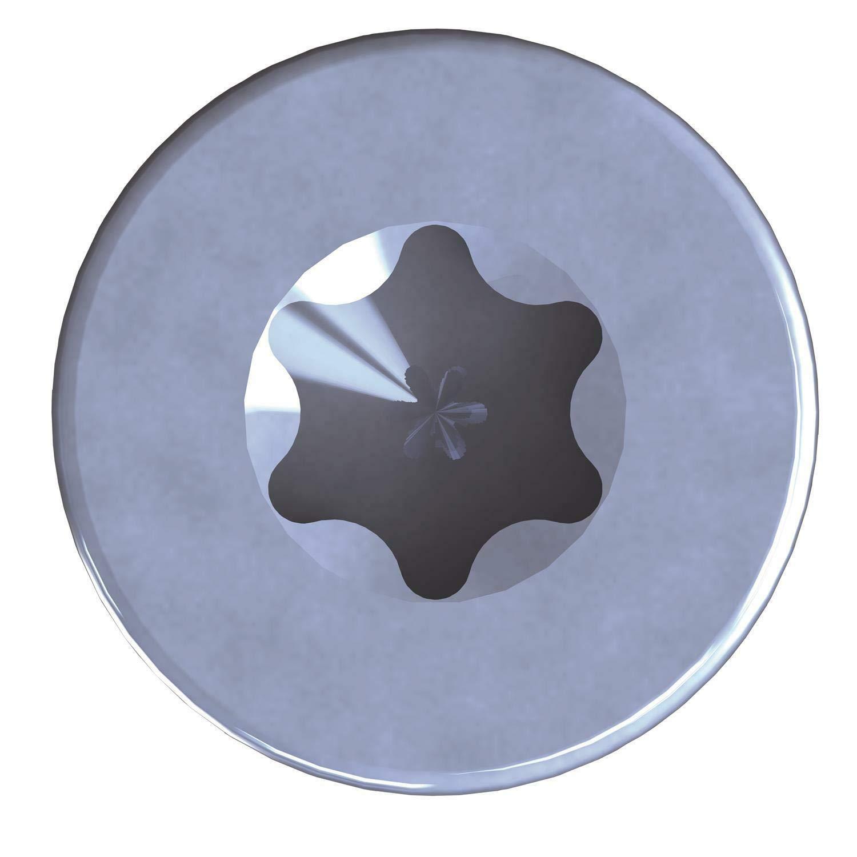 50 unidades, 8,0 x 240 mm, acero galvanizado, Torx TX40, con cabeza de disco, rosca parcial Tornillos para madera