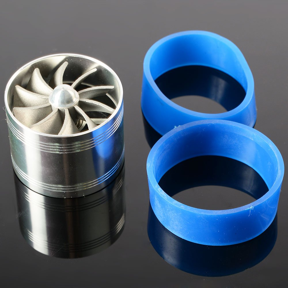 Universal Turbo Supercharger Air Intake Fuel Saver Fan Fit Turbo Single Fan Vrracing