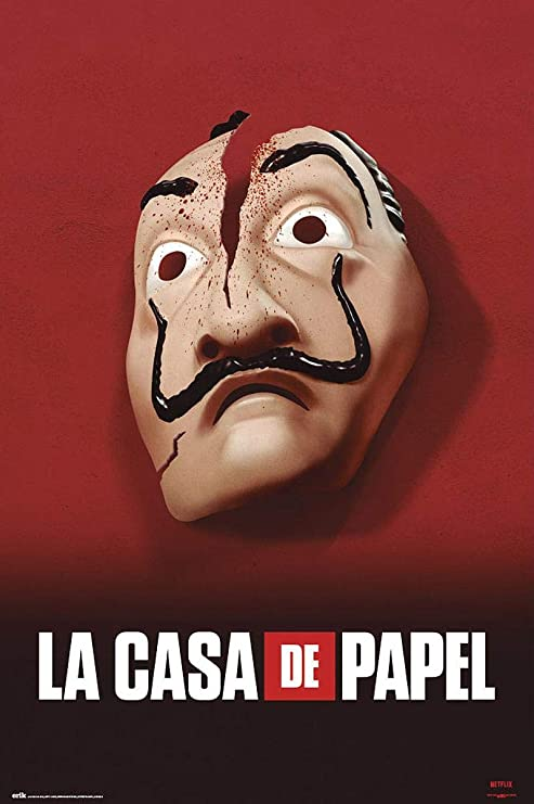 Close Up Póster La Casa De Papel - Máscara (61cm x 91,5cm ...