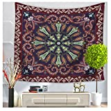 WCHUANG Ethinic Figure Tapestry Wall Hanging, Hippie Wall Art, Dorm Décor Beach Throw Blanket