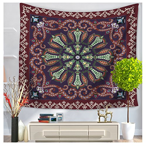 WCHUANG Ethinic Figure Tapestry Wall Hanging, Hippie Wall Art, Dorm Décor Beach Throw Blanket by WCHUANG
