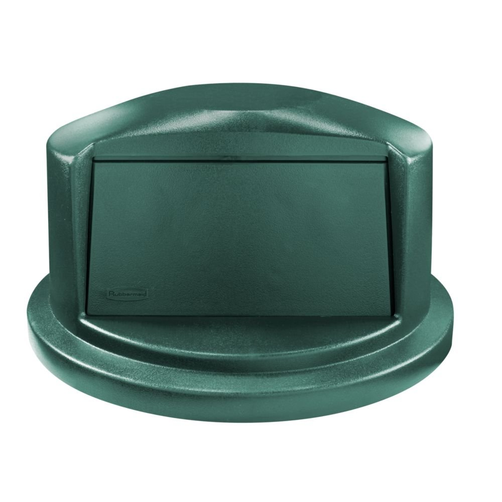 Rubbermaid Commercial Heavy-Duty BRUTE Dome Swing Top Door Lid for 32 Gallon Waste/Utility Containers, Plastic, Blue (1829398)