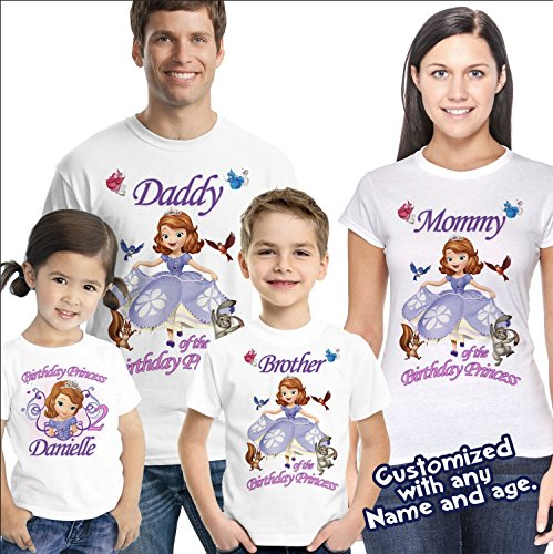 Sofia the First Birthday Shirt - Sofia Birthday shirt by Party Style Store
