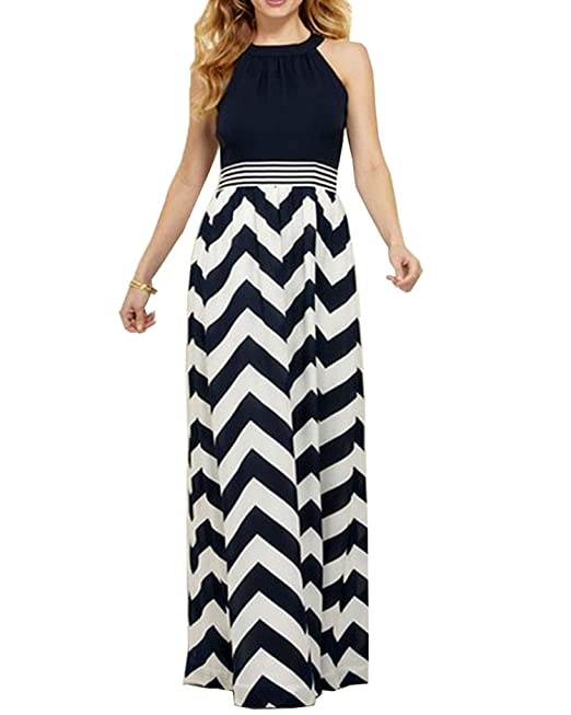 2d2c06a23e6 Roiii New Plus Size 8-24 Ladies Summer Party Evening Sleeveless Long Maxi  Dress  Amazon.co.uk  Clothing