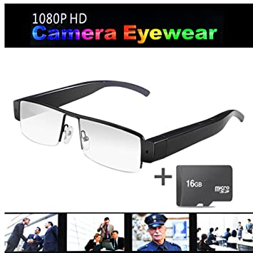 OMOUP 16GB 1080P HD Espía Cámara Ocultada Eyewear Cam Video Gafas de Sol Anteojos Camara Mini