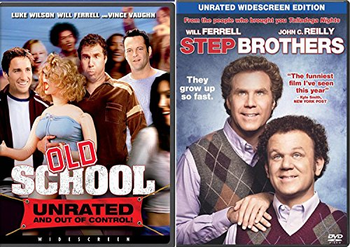 Old School + Step Brothers DVD Will Ferrel Collection Comedy Set 2 Movie bundle