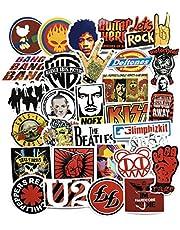 52 قطعة من ملصقات الكتابة على شكل الهيب هوب الأوروبية والأمريكية على شكل موسيقى الروك ولفافة على شكل الهيب هوب لملصقات الحقيبة والجيتار
