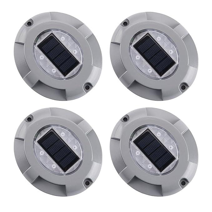 Exteriores 4 Solares Para De Cistwin Lámparas Led Aluminio Con Pack 8nvm0OwyN