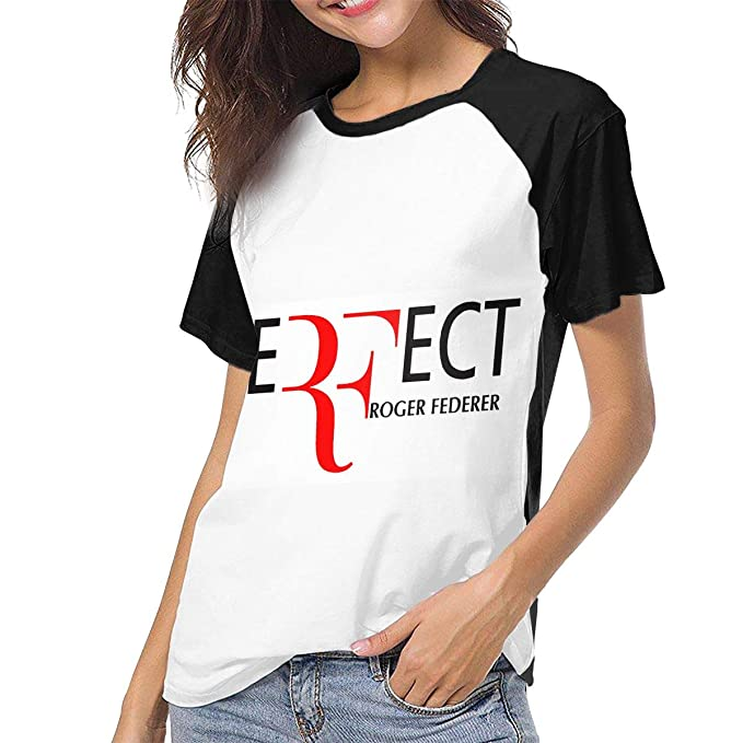 b5c7ed0d7ffa4 MSLWO Women's Roger Federer T-Shirts Breathable Summer Casual Sport ...