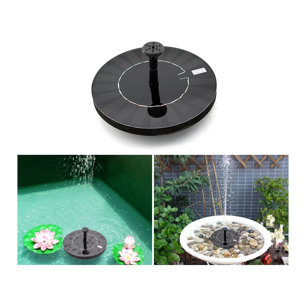 Weanas Solar Fountain Pump, Solar Powered Floating Fountain Kit With Battery Backup Solar Water Fountain for Bird Bath Pond, Pool and Garden Decoration
