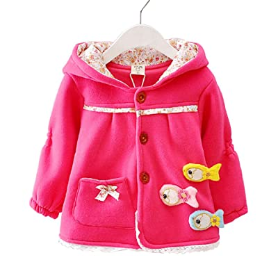 c98645b43 Baby Girls Toddler Kids Winter Big Ears Jackets with Hoodie ...