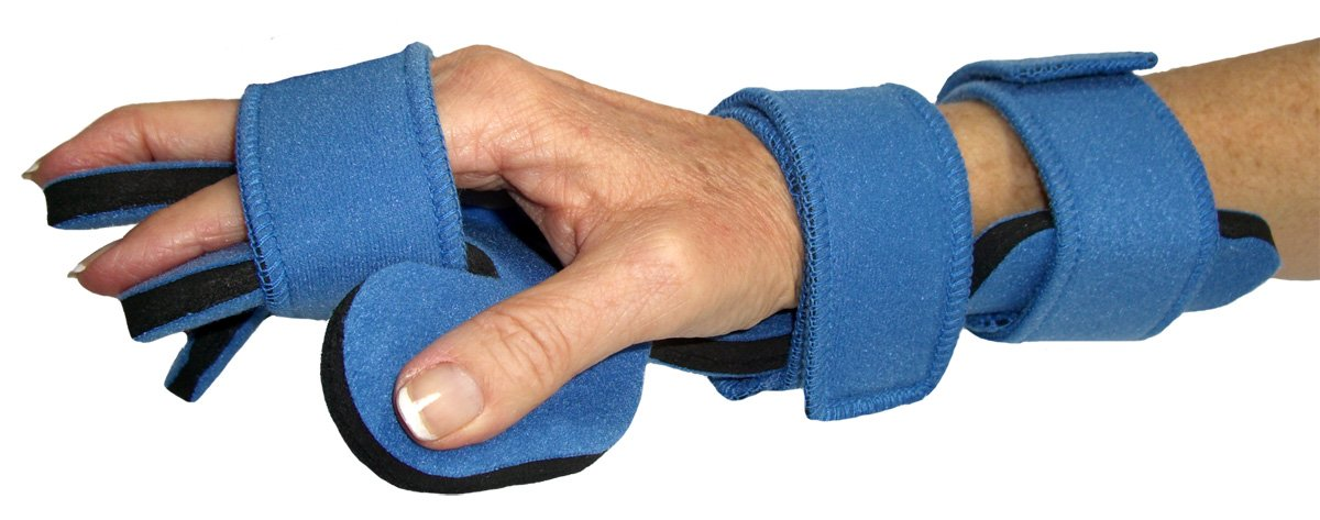 Dennis Stubblefield Sales DSS Comfyprene Hand/Wrist Separate Finger Orthosis Adult (Right, Light Blue) by DSS