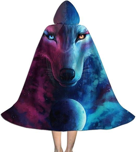 RJRA Capa con Capucha para Disfraz de Lobo Animal Galaxy Nebula ...