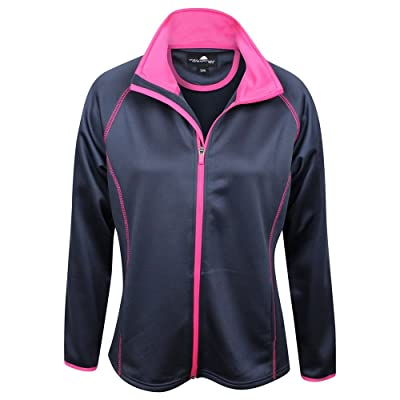 New The Weather Company Ladies Poly-Flex Pullover Jacket Navy/Pink Extra Large