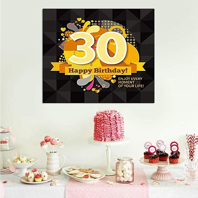 BESTOYARD Trigésimo cumpleaños Foto telón de Fondo sin ...