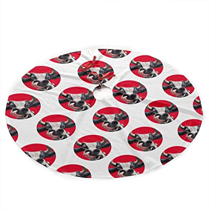 amazon com funny cow head pattern 35 5 diameter christmas tree