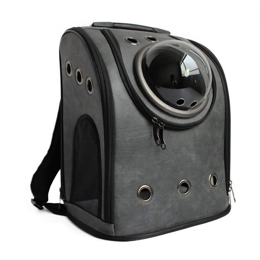 Pet Carrier Backpack, Petforu Space Capsule Dog Cat Small Animals Travel Bag - Dark Grey