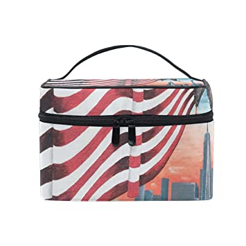 Travel Cosmetic Bag Abstract Art Wallpaper Toiletry Makeup Bag Pouch Tote Case Organizer Storage For Women Girls Beauty Amazon Com