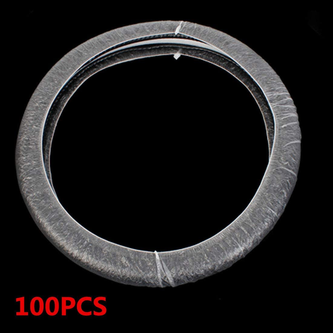 ACHICOO 100pcs//Set Universal Disposable Plastic Steering Wheel Cover White Plastic Steering-Wheel Cover Safe and Frequent Replacement