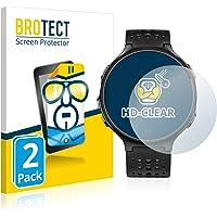 BROTECT 2x Schermbeschermer compatibel met Garmin Forerunner 235 Screen protector transparant