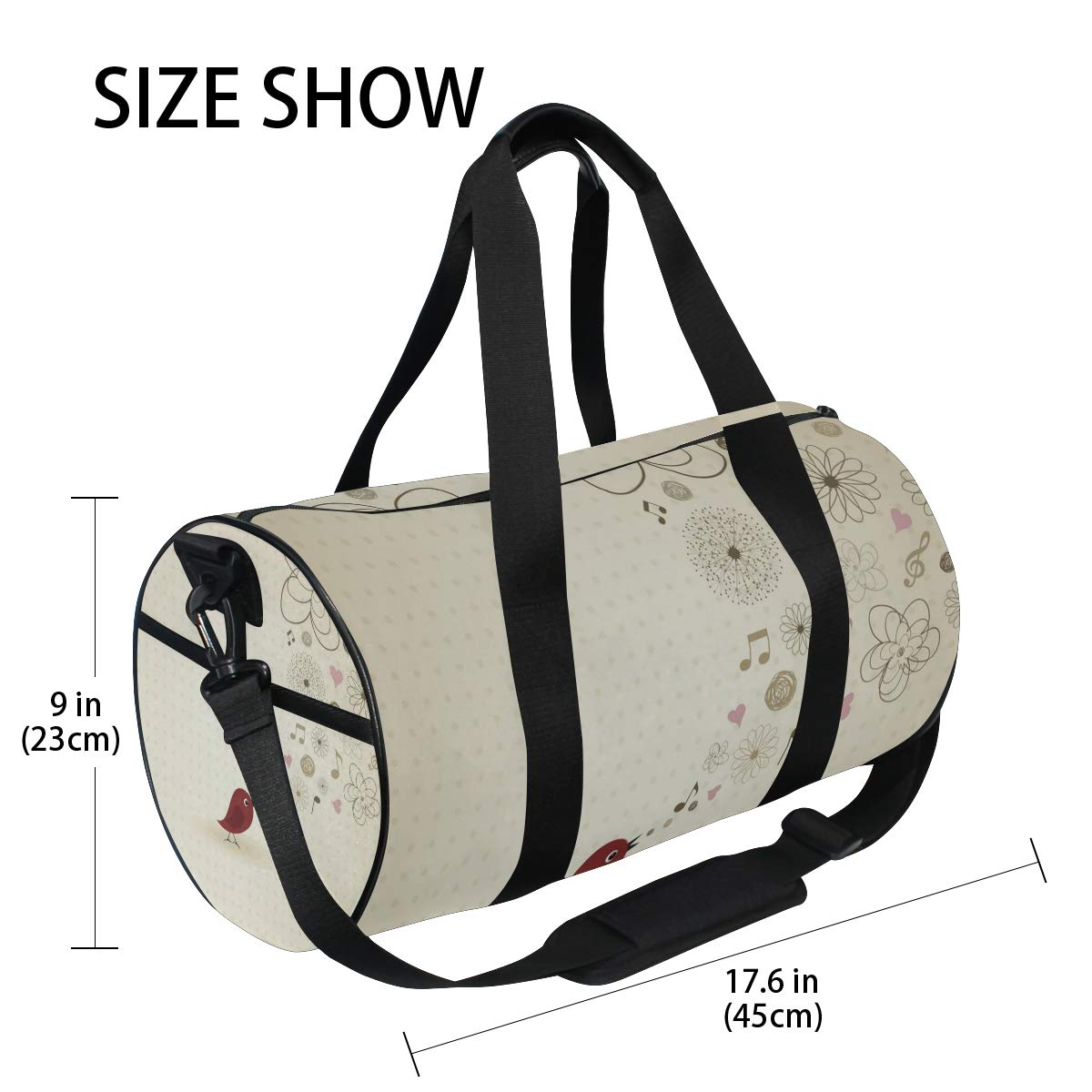 My  Music ImageWaterproof Non-Slip Wearable Crossbody Bag fitness bag Shoulder Bag