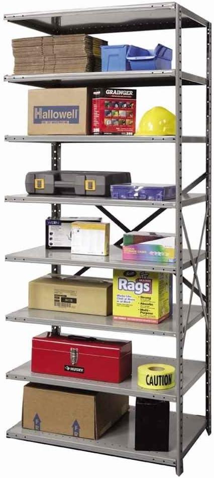 Hi Tech Heavy Duty Open Type 87 H 7 Shelf Shelving Unit Add On Size 87 H X 48 W X 18 D General Purpose Storage Racks