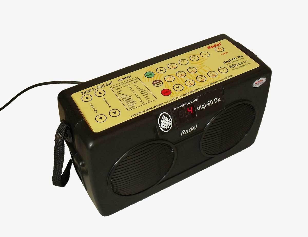 Electronic Tabla - RADEL Digi 60 Electronic Tabla Drum Kit, Digital Tabla Sampler, DJ Tabla Sound Machine, Power Cord, Bag, Instruction Manual (PDI-AAG)