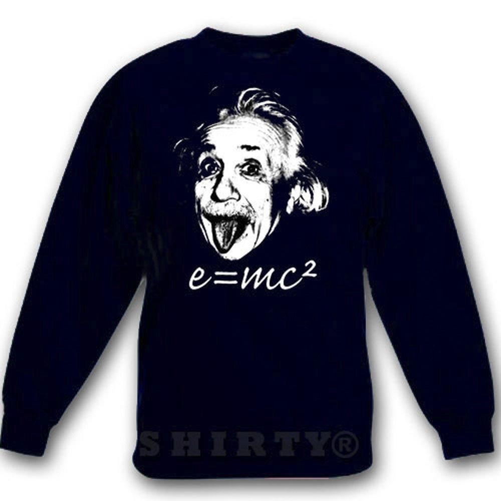 Albert Einstein 2 - Sweat - Shirt - schwarz - S bis 5XL - 1060