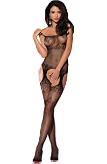 c851415bbe Sexy Lace See Through Hosiery Fishnet Bodystocking with Open Crotch for Sex