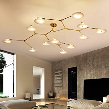 new arrival 6a490 8b278 Amazon.com: Modern LED Sputnik Chandelier, Living Room ...