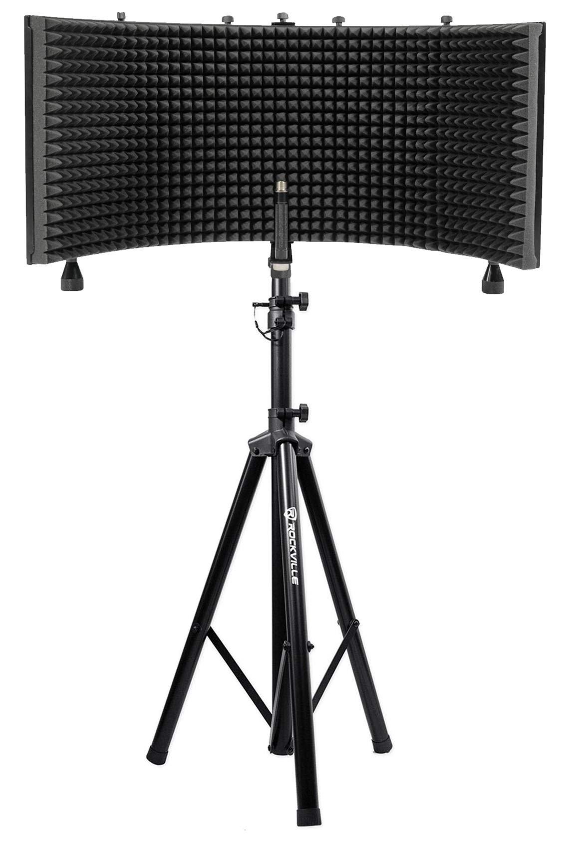 Rockville Recording Studio Microphone Isolation Shield + Heavy Duty Tripod Stand by Rockville (Image #1)