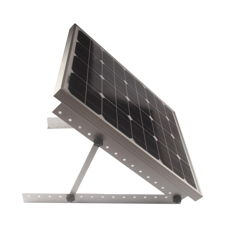 Adjustable Solar Panel Mount Mounting Rack Bracket Set Rack Folding Tilt Legs, Boat, RV, Roof Off Grid (28-inch Length) by Link Solar (Image #4)