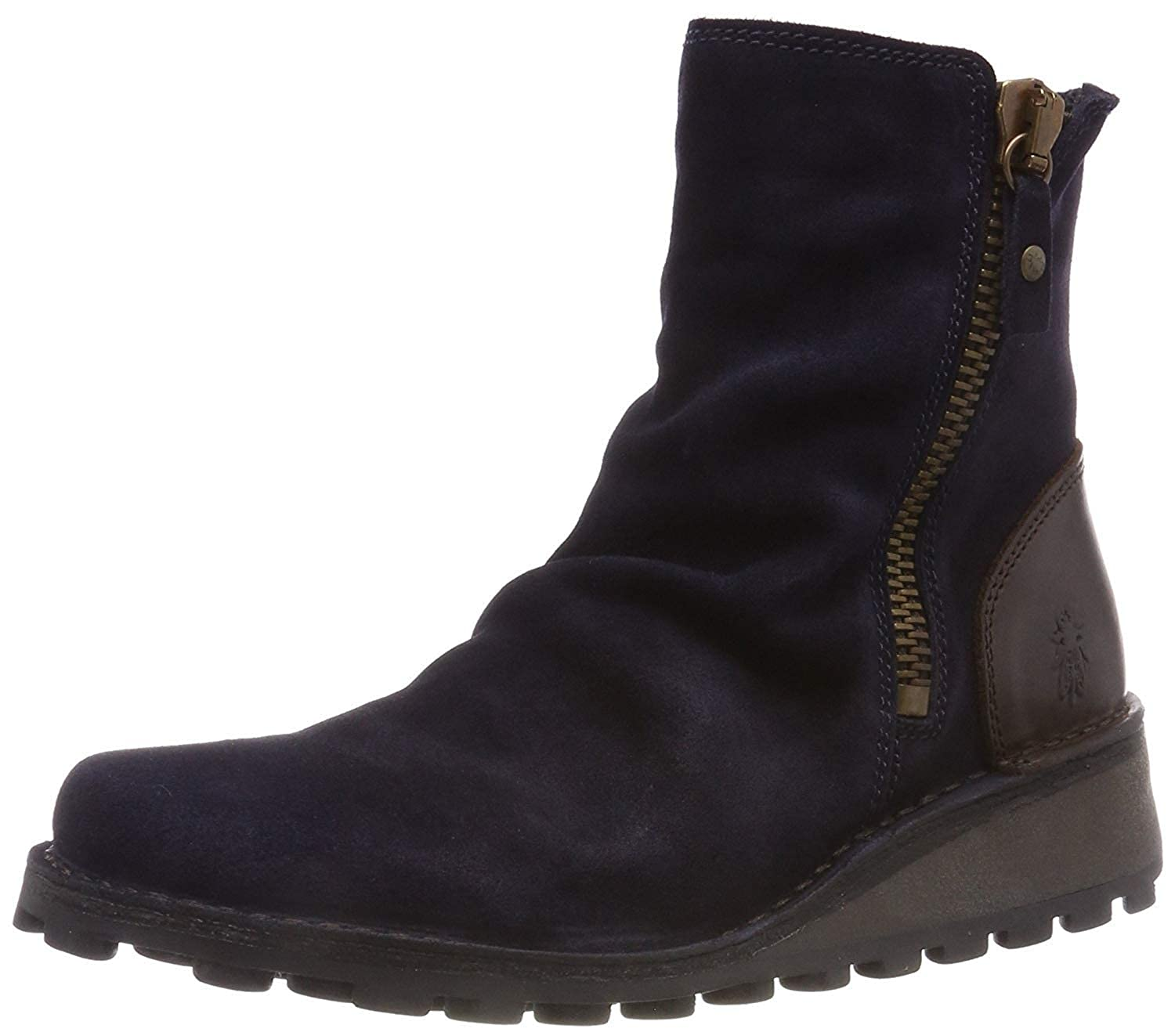 d8f130916d0d7 Fly London Mong944fly Navy Brown Suede Womens Ankle Boots: Amazon.co ...