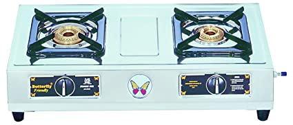 Butterfly LPG Stove, 2 Burners, Silver (L3300A00000)