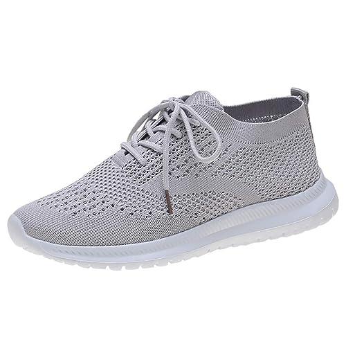 KERULA Sneakers Damen, Classic Fashion Bequeme Schnürung