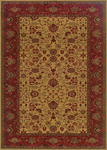 Couristan 3773/4874 Everest Tabriz Area Rugs, 9-Feet 2-Inch by 12-Feet 5-Inch, Deep Golden Camel