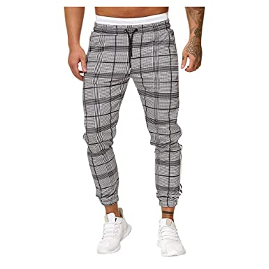 Vectry Pantalones Hombre Pantalones Deportivos Largos Casual ...