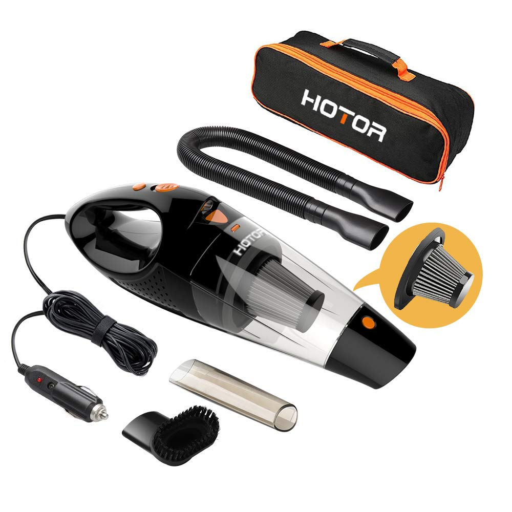 HOTOR Car Vacuum Cleaner High Power, car vaccum, DC 12V Portable Hand Auto Vacuum Cleaner for Car Use Only - Orange